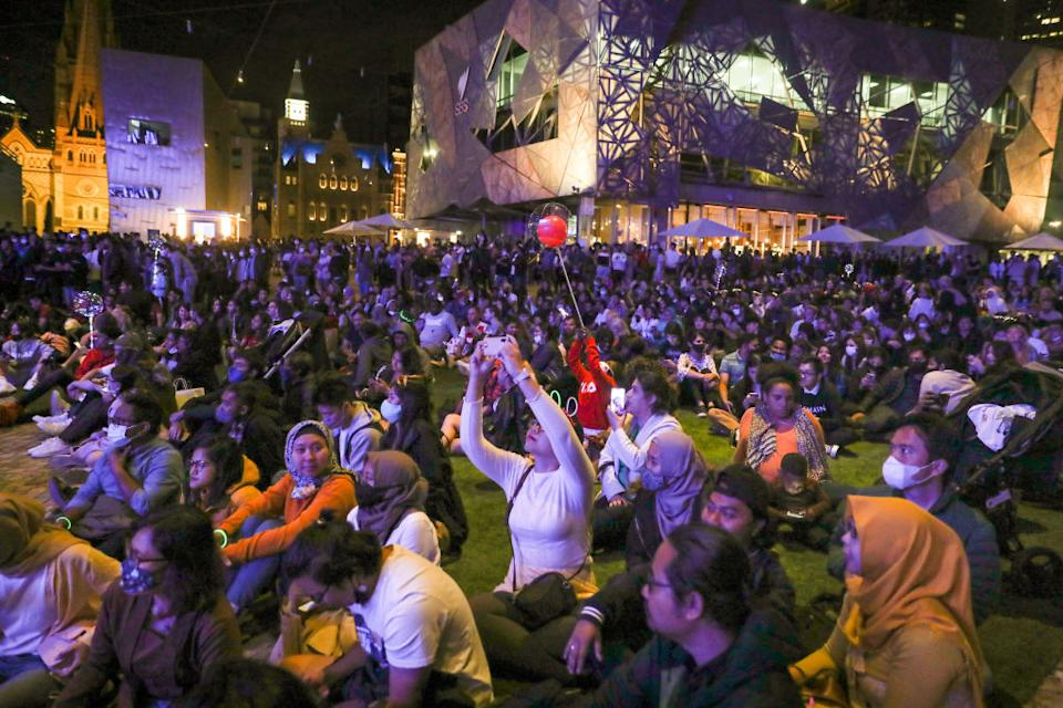 It's been a long year for Melbourne as revellers looked to welcome in a new one. Source: Getty