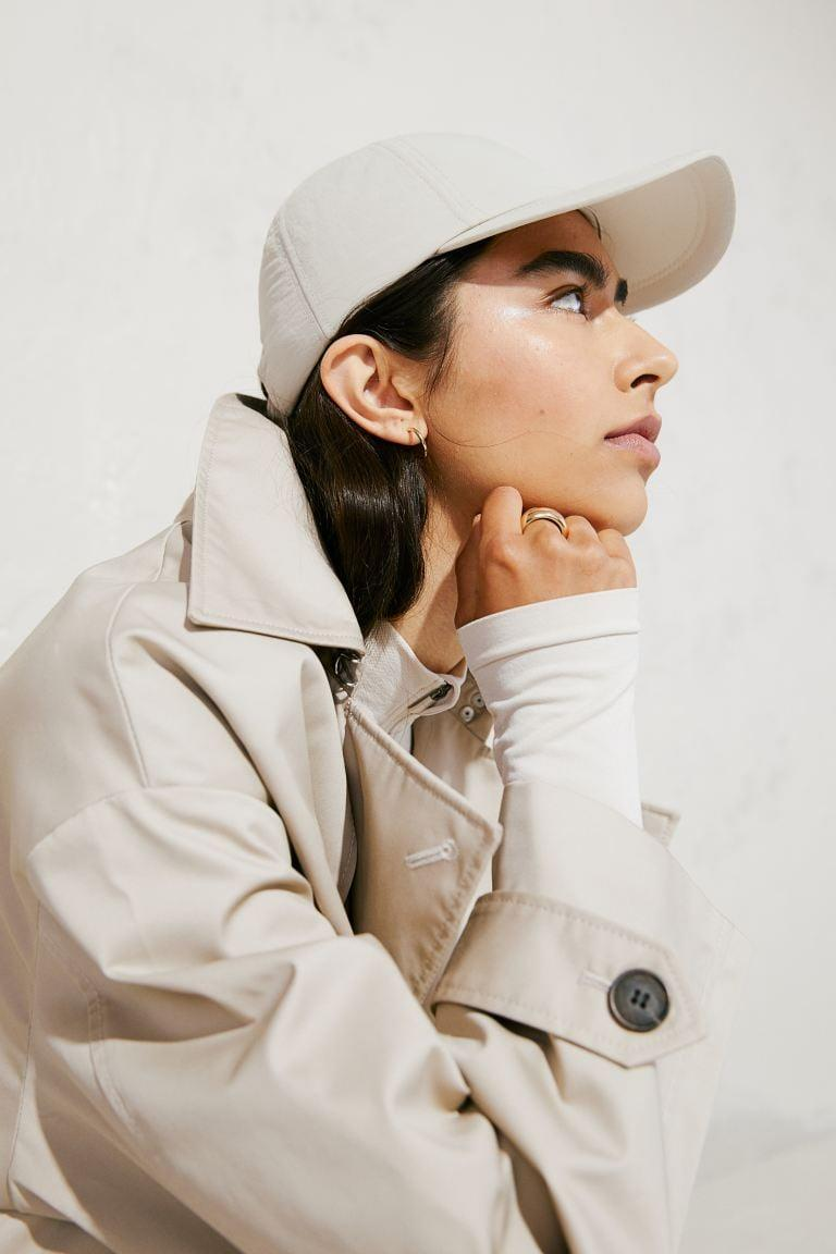 <p>A baseball hat is a weekend essential. We like that this <span>H&amp;M Padded Nylon Cap</span> ($13) is polished and sleek.</p>