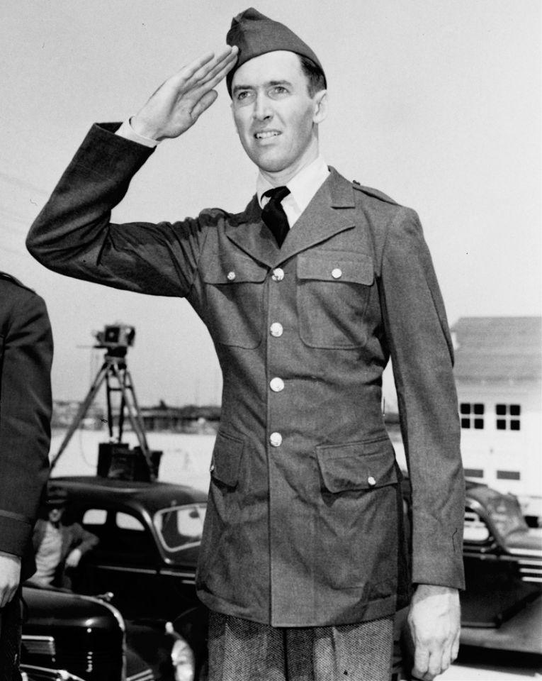 <p>Arguably the biggest star to serve, Stewart was an A-lister before the war thanks to 'Mr. Smith Goes To Washington' and 'The Philadelphia Story,' but nevertheless followed in the footsteps of his WWI veteran father, enlisting even before Pearl Harbor. He became the commander of the 445th Bomb Group, flying at least twenty combat missions and rising from private to colonel in only four years. </p>