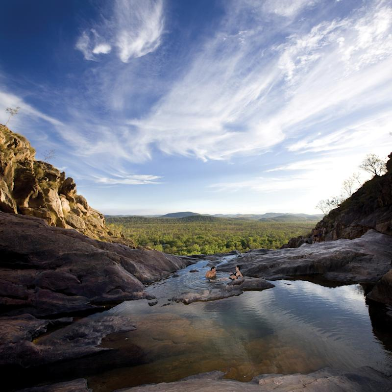 The infinity pool Gunlom located at the top of Waterfall Creek is a once-in-a-lifetime experience. Photo: Supplied