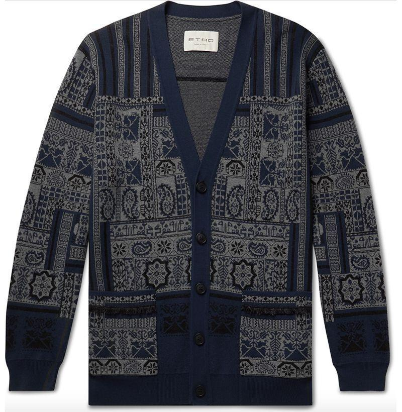 """<p><strong>Etro</strong></p><p>mrporter.com</p><p><strong>$1940.00</strong></p><p><a href=""""https://go.redirectingat.com?id=74968X1596630&url=https%3A%2F%2Fwww.mrporter.com%2Fen-us%2Fmens%2Fproduct%2Fetro%2Fclothing%2Fcardigans%2Ffringed-printed-wool-linen-and-silk-blend-cardigan%2F17476499599787024&sref=https%3A%2F%2Fwww.esquire.com%2Fstyle%2Fmens-fashion%2Fg34151679%2Fbest-new-menswear-september-25%2F"""" rel=""""nofollow noopener"""" target=""""_blank"""" data-ylk=""""slk:Shop Now"""" class=""""link rapid-noclick-resp"""">Shop Now</a></p>"""