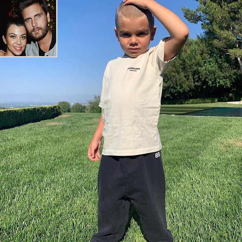 Kourtney Kardashian and Scott Disick's Son Reign, 5, Had a Different Haircut Before Shaving His Head