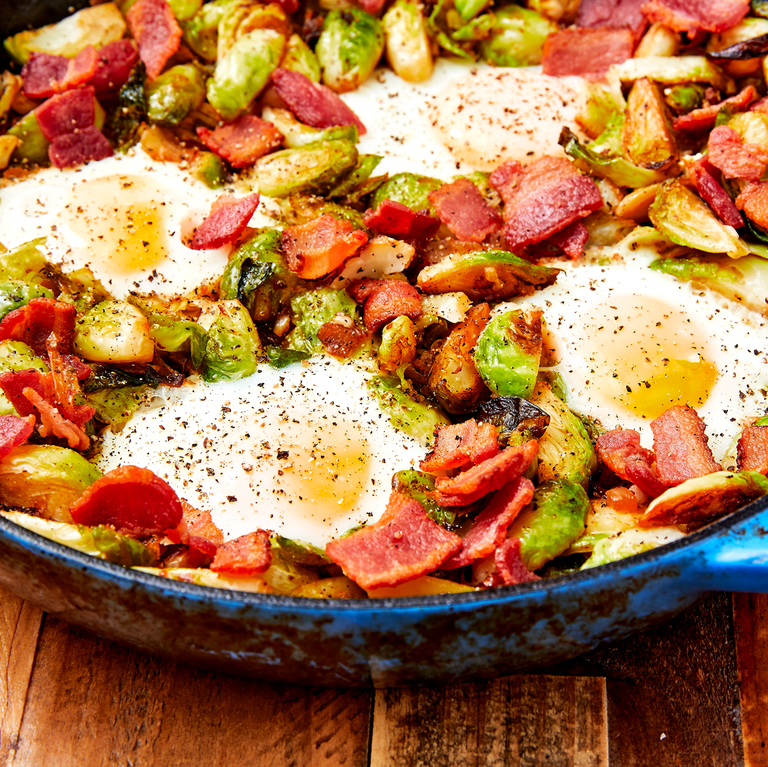 "<p>Brussels sprouts are the perfect vegetable. They are <a href=""https://www.delish.com/uk/cooking/recipes/a28996423/best-roasted-brussel-sprouts-recipe/"" rel=""nofollow noopener"" target=""_blank"" data-ylk=""slk:amazing roasted"" class=""link rapid-noclick-resp"">amazing roasted</a>, go great with mac and cheese, and now they make up the best low-carb hash. We keep falling more and more in love. </p><p>Get the <a href=""https://www.delish.com/uk/cooking/recipes/a29944325/brussels-sprouts-hash-recipe/"" rel=""nofollow noopener"" target=""_blank"" data-ylk=""slk:Brussels Sprouts Hash"" class=""link rapid-noclick-resp"">Brussels Sprouts Hash</a> recipe.</p>"