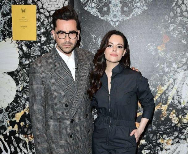 PHOTO: Dan Levy and Emily Hampshire host Wanderluxe benefiting Air Canada And SickKids Foundation, April 12, 2018, in Toronto. (George Pimentel/Getty Images )