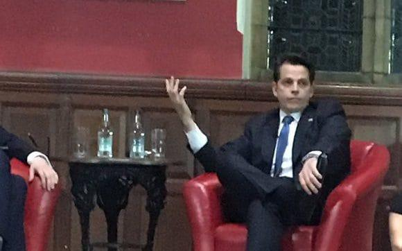 Anthony Scaramucci said at the Oxford Union that Donald Trump was definitely not a