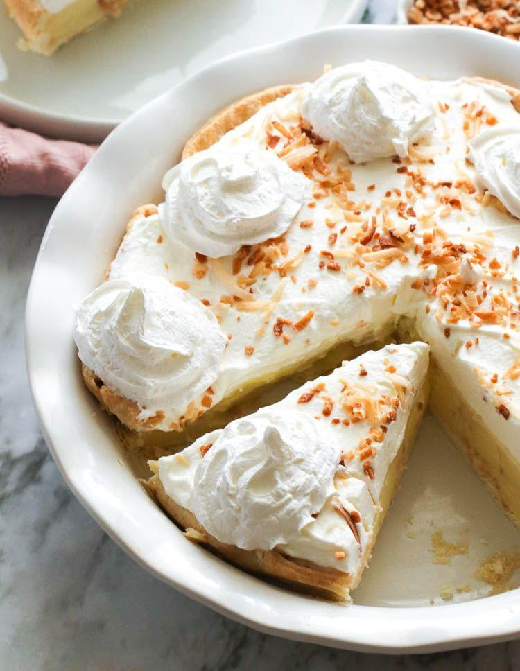 """<p>Cream pies can come in all kinds of flavors, from vanilla to peanut butter. This melt-in-your-mouth coconut pie, however, may become your new favorite.</p><p><strong>Get the recipe at <a href=""""https://www.africanbites.com/coconut-cream-pie/"""" rel=""""nofollow noopener"""" target=""""_blank"""" data-ylk=""""slk:Immaculate Bites"""" class=""""link rapid-noclick-resp"""">Immaculate Bites</a>. </strong></p><p><a class=""""link rapid-noclick-resp"""" href=""""https://go.redirectingat.com?id=74968X1596630&url=https%3A%2F%2Fwww.walmart.com%2Fsearch%2F%3Fquery%3Dpie%2Bservers&sref=https%3A%2F%2Fwww.thepioneerwoman.com%2Ffood-cooking%2Fmeals-menus%2Fg36558208%2Fsummer-pie-recipes%2F"""" rel=""""nofollow noopener"""" target=""""_blank"""" data-ylk=""""slk:SHOP PIE SERVERS"""">SHOP PIE SERVERS</a></p>"""