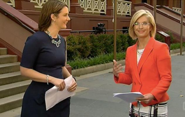 Juanita moves seamlessly into the bus stop manoeuvre. Source: ABC