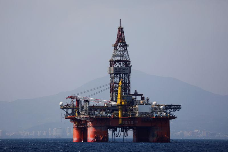 The Hai Yang Shi You 981 oil platform operated by China National Offshore Oil Corporation (CNOOC) is seen in the sea off China's Hainan province