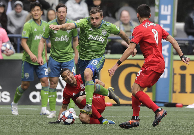 Jordan Morris (13) and Seattle finally get to host an MLS Cup final against Toronto FC. (AP Photo/Ted S. Warren, File)