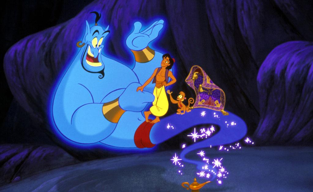 """Character: The Genie (voiced by <a href=""""http://movies.yahoo.com/movie/contributor/1800013042"""">Robin Williams</a>)   Movie: <a href=""""http://movies.yahoo.com/movie/1809834104/info"""">Aladdin</a>   Reason Why He Is Blue: Genies are always blue, right?"""
