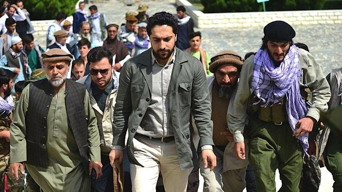 Ahmad Massoud, arrives to attend and address a gathering at the tomb of his late father, Panjshir province, Afghanistan, July 5, 2021