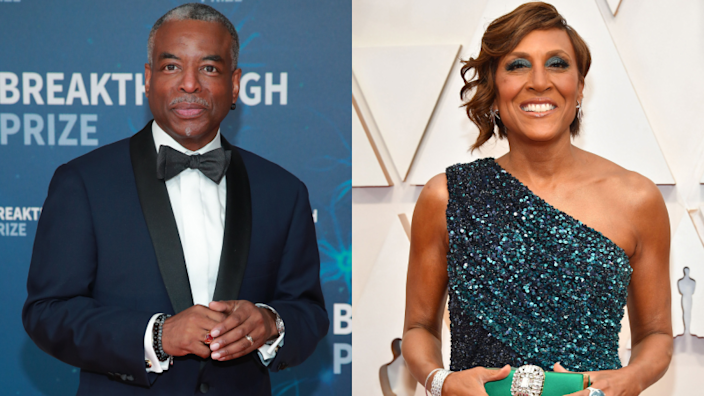 LeVar Burton attends the 8th Annual Breakthrough Prize Ceremony on November 03, 2019; Robin Roberts attends the 92nd Annual Academy Awards on February 09, 2020.