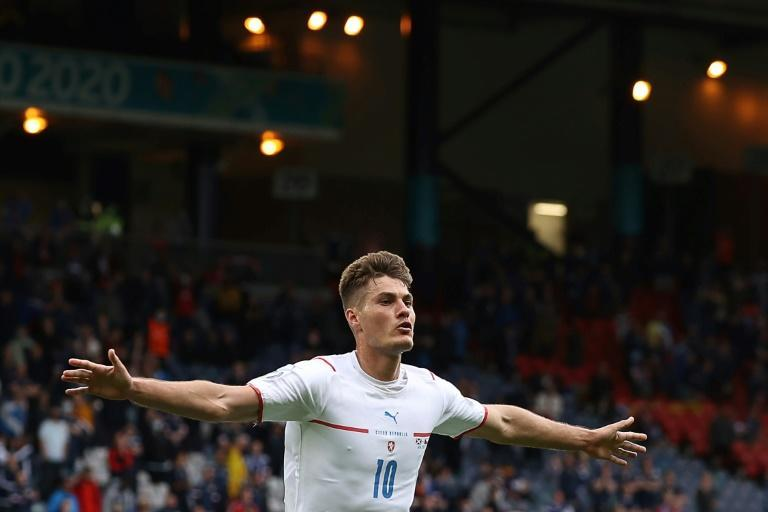 Schick scored an early contender for goal of the tournament