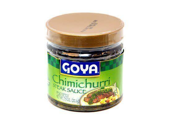 """<em>chee-mee-CHOOR-ree</em> A sauce made from parsley, garlic, olive oil, oregano, red vinegar, and chili flakes. <strong>How to Use:</strong> Use as a condiment for grilled meats or as a grill marinade. <strong>Origin:</strong> Argentina but also used in Brazil, Colombia, Mexico, Nicaragua and Uruguay. <strong>Recipe:</strong> <a href=""""http://www.huffingtonpost.com/2011/10/27/grilled-t-bone-steaks-wit_n_1055746.html"""" rel=""""nofollow noopener"""" target=""""_blank"""" data-ylk=""""slk:Grilled T-Bone Steaks with Chimichurri"""" class=""""link rapid-noclick-resp"""">Grilled T-Bone Steaks with Chimichurri</a> <strong><a href=""""http://www.amazon.com/Pacific-Rim-Gourmet-Chimichurri-Steak/dp/B004ATNNPQ"""" rel=""""nofollow noopener"""" target=""""_blank"""" data-ylk=""""slk:Chimichurri Sauce"""" class=""""link rapid-noclick-resp"""">Chimichurri Sauce</a> at Amazon.com, $6.19</strong>"""