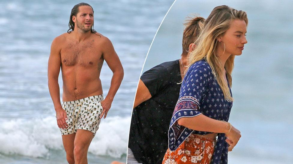Margot Robbie and Tom Ackerley's beach day out