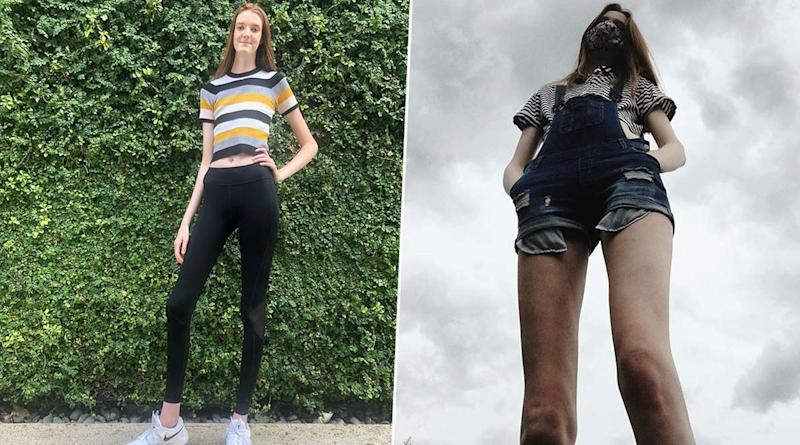 Maci Currin, 17-Year-Old Girl Has World's Longest Female Legs, See Pics of the Guinness World Record Holder Who Stands Tall at 6ft 10in