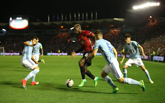 <span>Paul Pogba had an excellent game but yet again his profligate teammates squandered the chances he created</span> <span>Credit: PA </span>