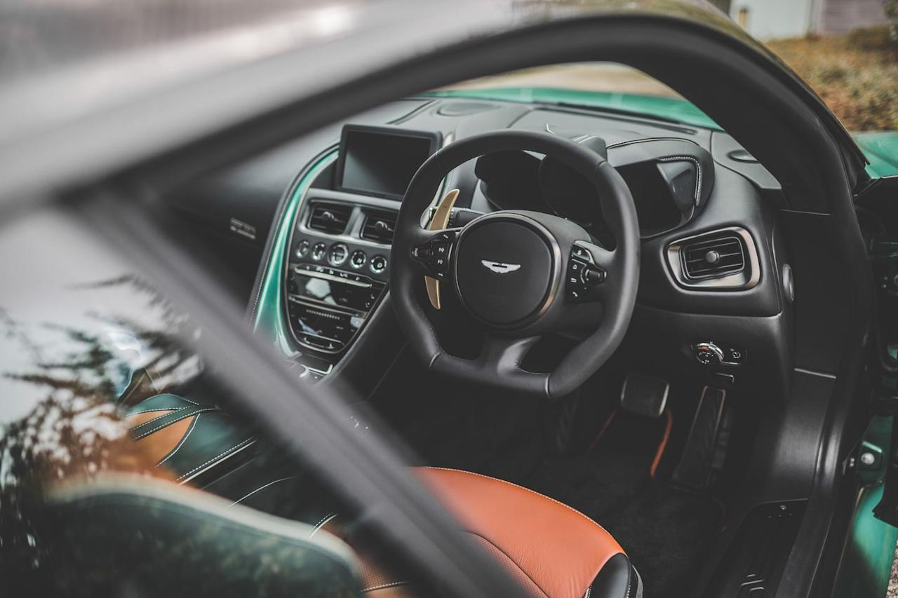 """<p>The DBR1 has been described by racing legend Stirling Moss as """"the most important Aston Martin ever produced."""" <a href=""""https://www.caranddriver.com/features/g4430285/2-7-million-and-up-the-25-most-expensive-cars-sold-at-the-2017-monterey-auctions/?slide=26"""" target=""""_blank"""">In 2017, one went for a record-setting $22,550,000</a>, making it the most expensive British car ever sold at auction.</p>"""