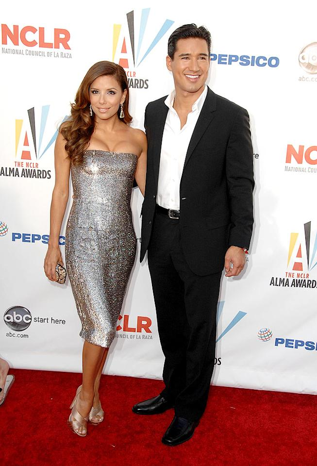"""Eva Longoria Parker arrived at the 2009 ALMA Awards, which celebrates Latinos in television, music and sports, on the arm of her hunky BFF, Mario Lopez. Steve Granitz/<a href=""""http://www.wireimage.com"""" target=""""new"""">WireImage.com</a> - September 17, 2009"""