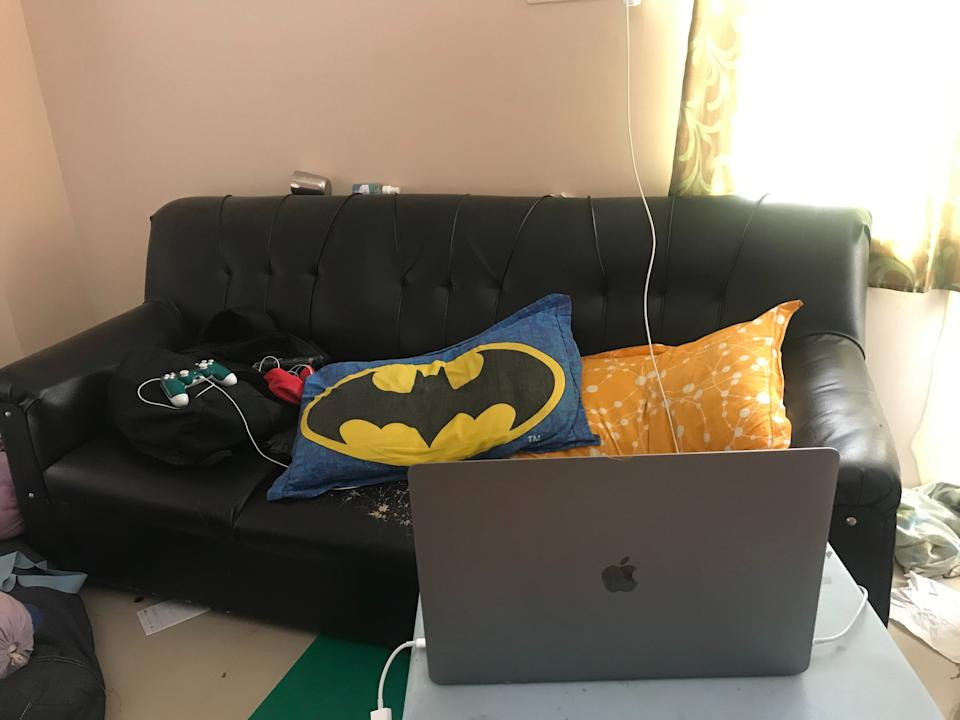 When you want to work in between gaming