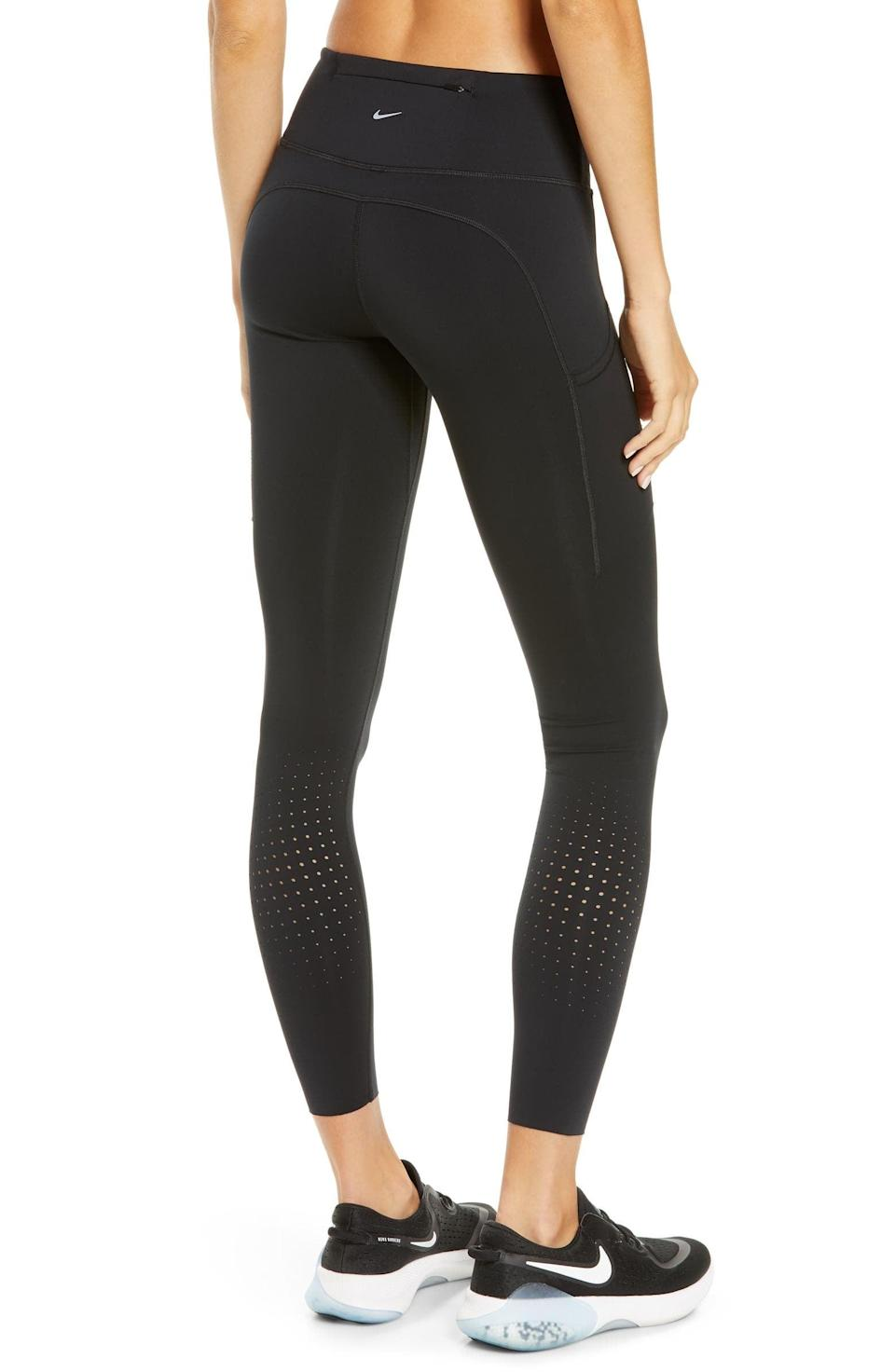 <p>If you're getting sweaty, go for these <span>Nike Epic Luxe Dri-FIT Pocket Running Tights</span> ($95).</p>