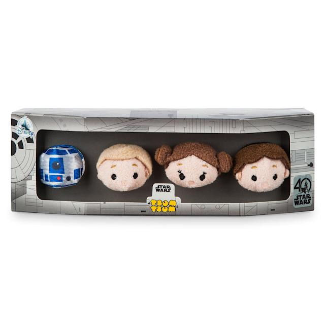 <p>The $19.95 collection comes in a box designed after the <em>Millennium Falcon</em>.<br> (Credit: Disney Store) </p>