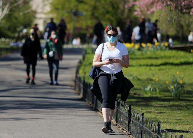 """The health benefits of face masks may only be """"modest"""" Robert Jenrick said. (Picture: PA)"""