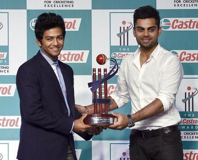 Unmukt Chand and Virat Kohli, two of India's U-19 WC winning captains at a promotional event