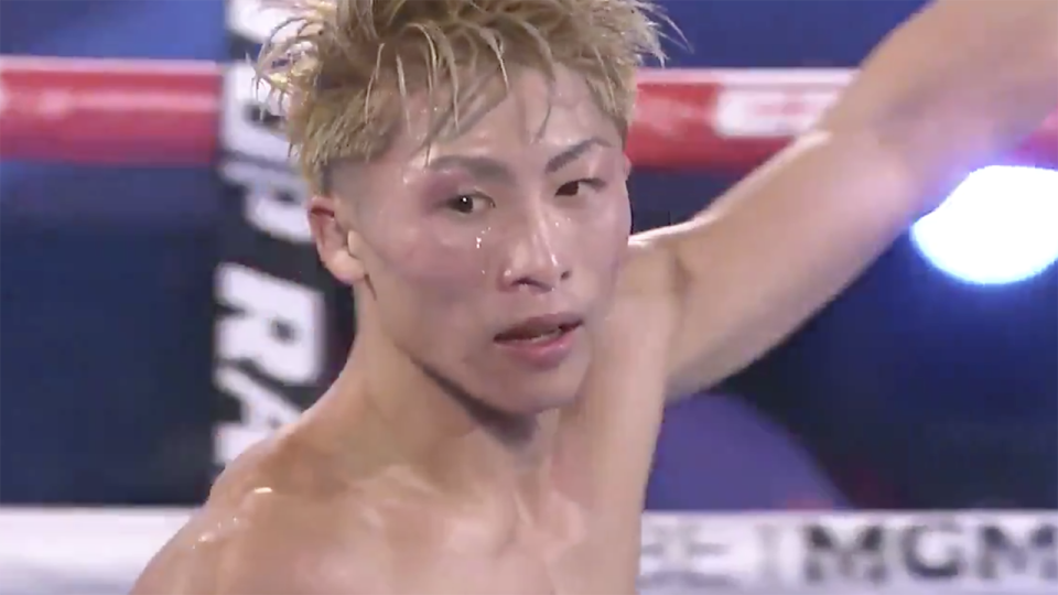 Japan's Naoya Inoue is pictured after defeating Jason Moloney.