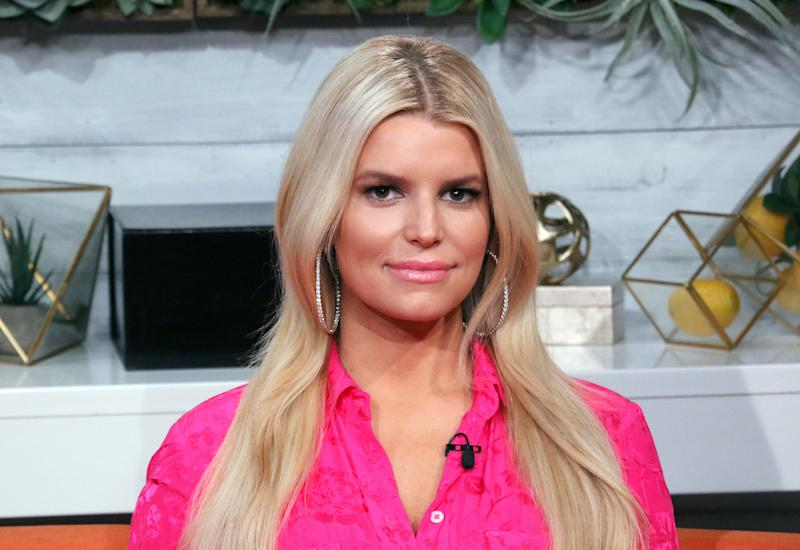 "NEW YORK, NEW YORK - FEBRUARY 04: (EXCLUSIVE COVERAGE) Singer Jessica Simpson visits BuzzFeed's ""AM To DM"" on February 04, 2020 in New York City. (Photo by Jim Spellman/Getty Images)"