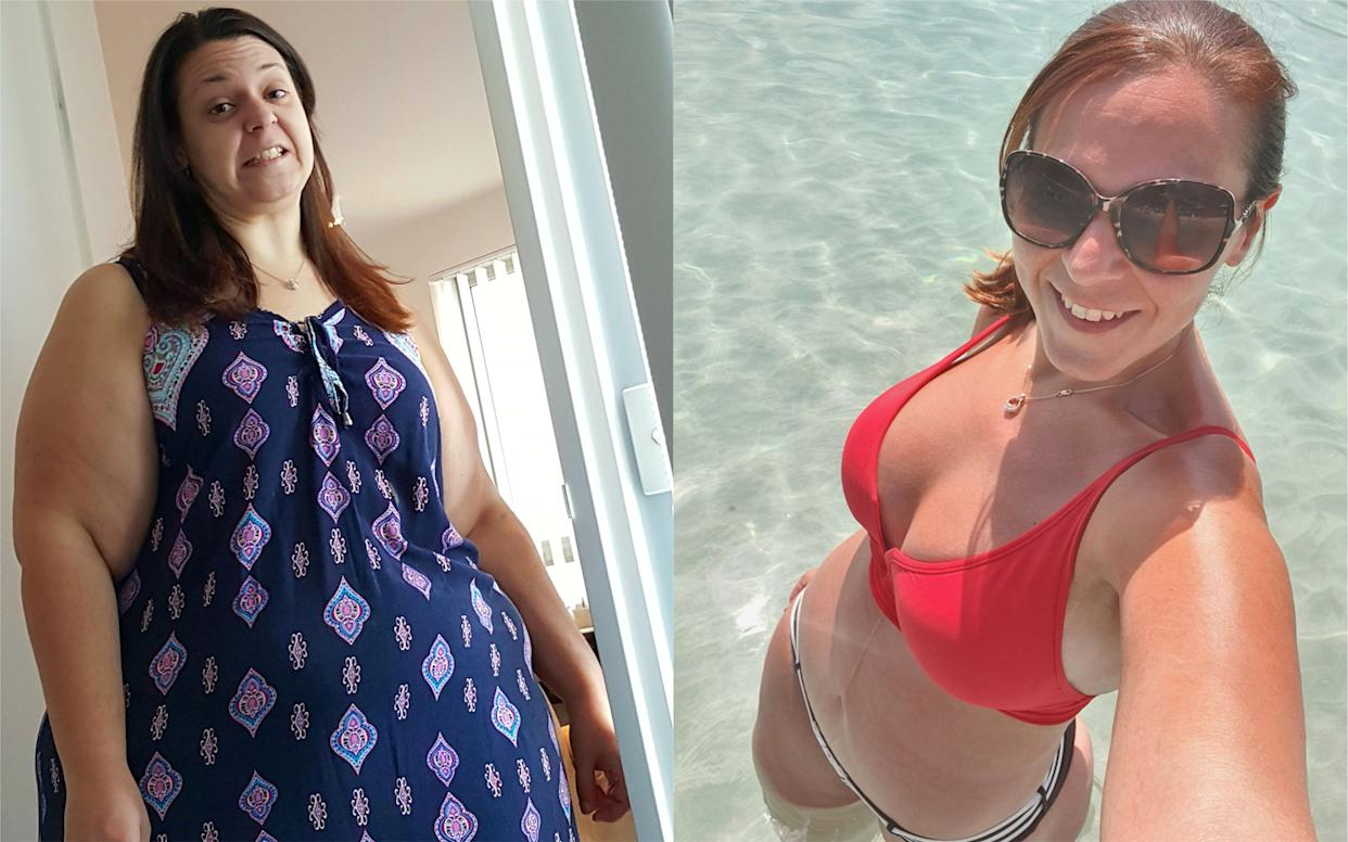 Doina Nicutescu lost an impressive 12 stone and has since gone on to travel the world [Photo: Caters]