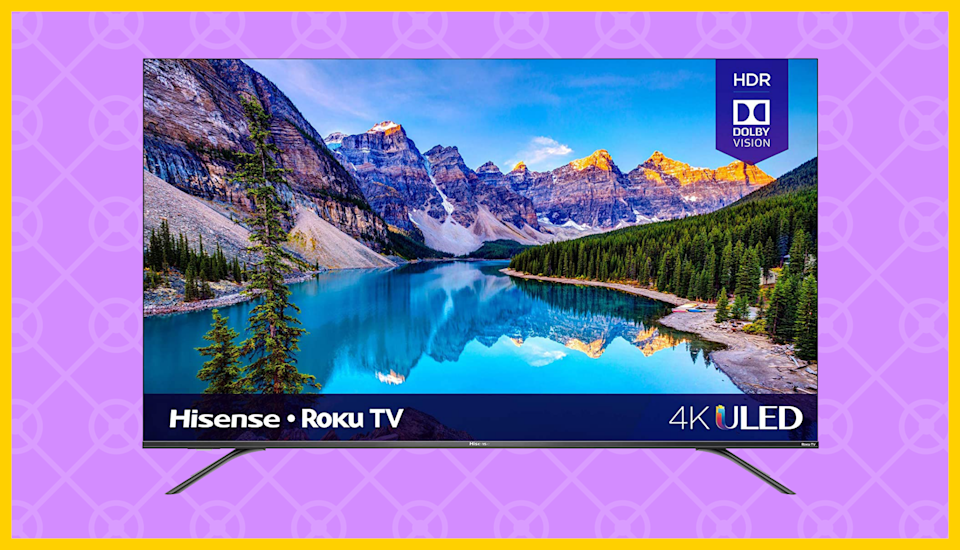 Save $130 on the Hisense 65-inch Class R8 Series 4K ULED Roku Smart TV. (Photo: Amazon)