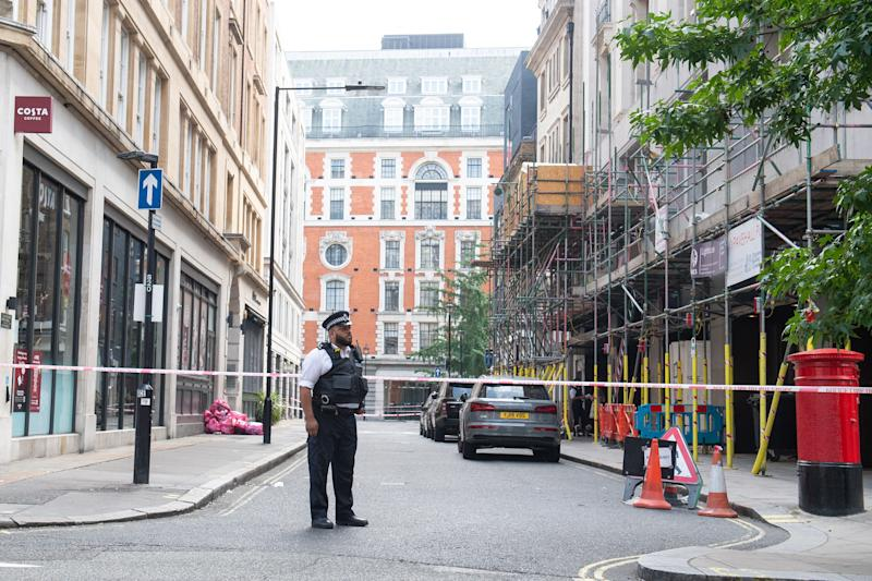 Three men have been arrested in connection with the assault, which happened in London's West End on Saturday. (PA)