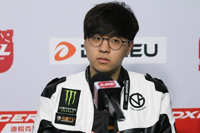 Bengi during a Week 3 press conference (Dionne Ng)