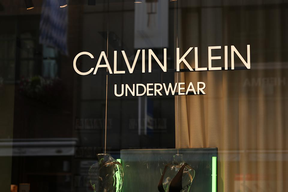 MUNICH, GERMANY - JULY 21: Calvin Klein Underwear sign is seen on July 21, 2020 in Munich, Germany.  (Photo by Jeremy Moeller/Getty Images)