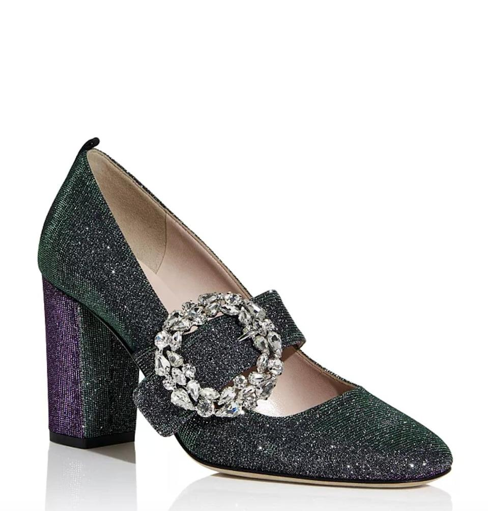 <p>They'll wear these dazzling <span>SJP Celine Glitter Mary Jane Block Heel Pumps</span> ($450) for years to come.</p>