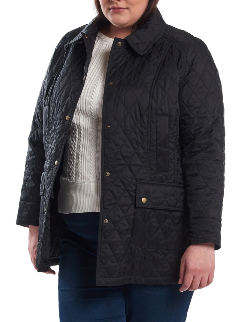 Barbour 'Beadnell' Summer Quilted Jacket in Black (Photo via Nordstrom)