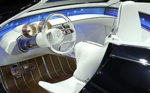 FRANKFURT AM MAIN, GERMANY - SEPTEMBER 12: This image shows interior details of the new Mercedes-Maybach 6 Cabriolet at the 2017 Frankfurt Auto Show on September 12, 2017 in Frankfurt am Main, Germany. The Frankfurt Auto Show is taking place during a turbulent period for the auto industry. Leading companies have been rocked by the self-inflicted diesel emissions scandal. At the same time the industry is on the verge of a new era as automakers commit themselves more and more to a future that will one day be dominated by electric cars. (Photo by Sean Gallup/Getty Images) - Credit: Sean Gallup/Getty Images Europe