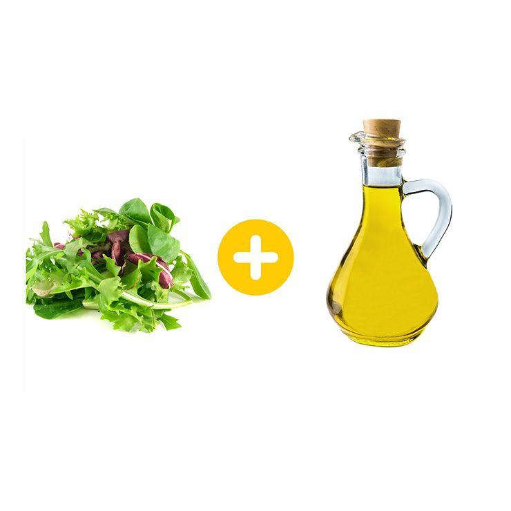 """<p>Who says <a href=""""https://www.prevention.com/fitness/workouts/a27420586/toning-transformation-plan/"""" target=""""_blank"""">fat</a> is the enemy? Research shows that combining vegetables and a source of healthy fat enhances absorption of antioxidants like lutein and beta-carotene. Lutein, an antioxidant in leafy greens, is known to diminish inflammation in the eyes, therefore helping prevent neurodegenerative disorders like age-related macular degeneration. Beta-carotene, another antioxidant, has been shown to lower all-over inflammation in older adults. Drizzle some <a href=""""https://www.prevention.com/food-nutrition/recipes/a26986140/shrimp-avocado-and-egg-chopped-salad-recipe/"""" target=""""_blank"""">olive oil over your next salad</a> to ensure you get more bang for your buck.  </p><p><b><a href=""""https://www.prevention.com/food-nutrition/a20483336/keto-diet-facts/"""" target=""""_blank"""">RELATED: What Is the Keto Diet, Exactly?</a></b> </p>"""