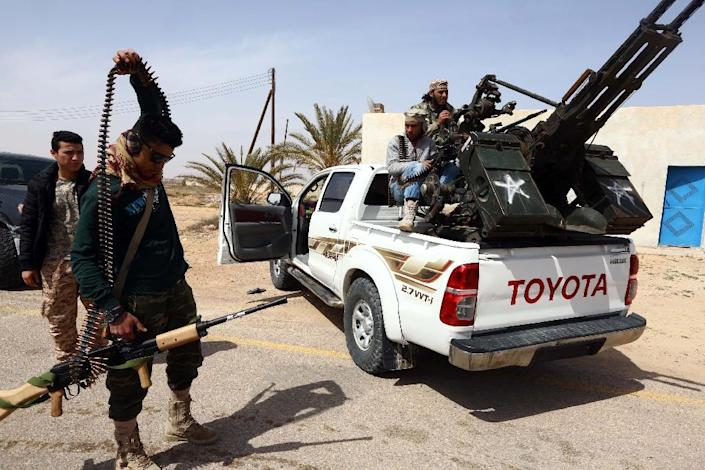 """Mohamad Ghassri, spokesman for the forces of Libya's UN-backed Government of National Accord (GNA), said the liberation of Sirte from the Islamic Group could come """"in two or three days"""" (AFP Photo/Mahmud Turkia)"""