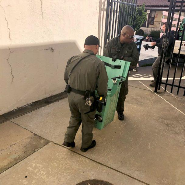 PHOTO: Prison staff remove the electric chair from San Quentin, March 13, 2019, after Gov. Gavin Newsom placed a moratorium on the death penalty. (Office of the Governor of California via Twitter)
