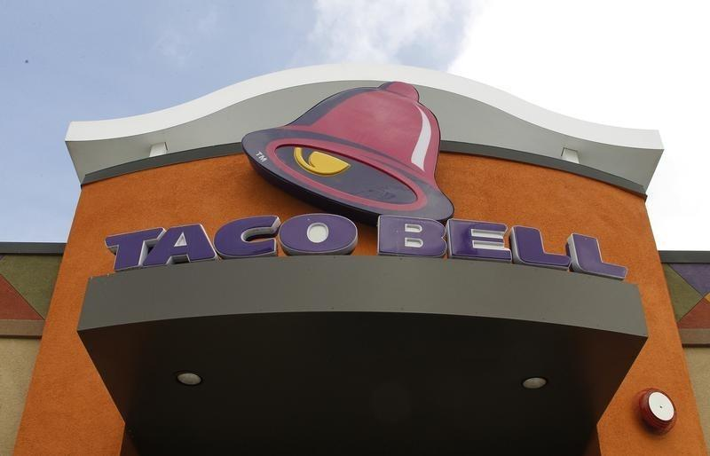A Taco Bell restaurant is pictured in Burbank, California