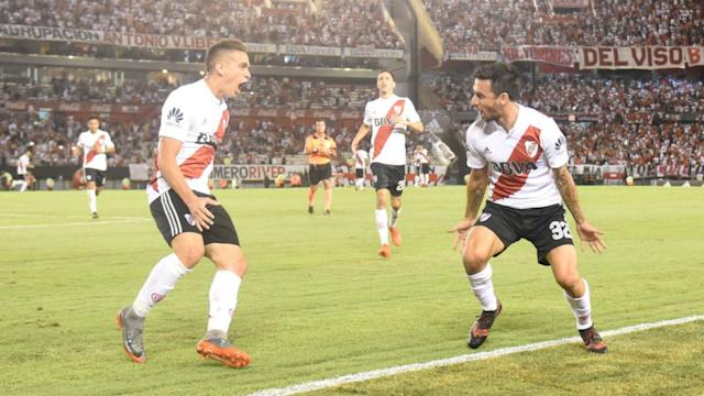 Santos Borre Scocco River Olimpo Superliga 03022018