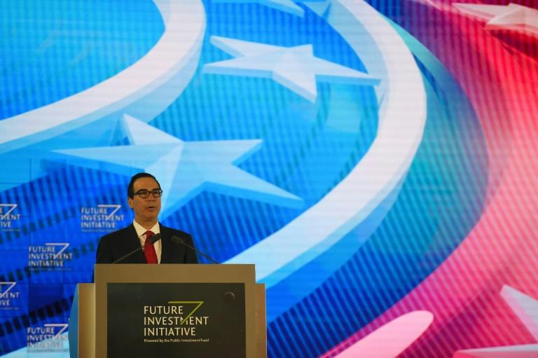 US Treasury Secretary Steven Mnuchin attended last year's Future Investment Initiative in Saudi Arabia, but is one of several key personalities to have wuithdrawn from this year's event