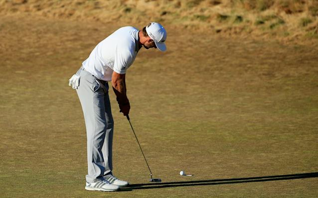 <span>Dustin Johnson three-putted the last at the 2015 US Open</span> <span>Credit: Getty Images </span>