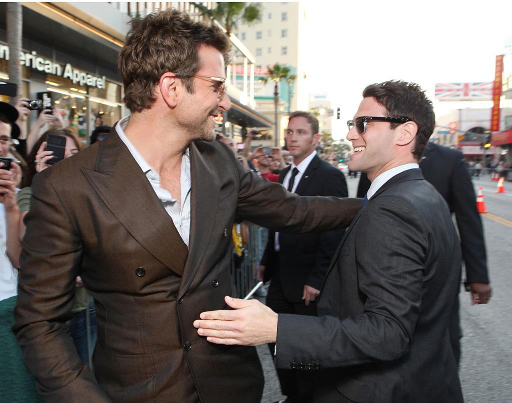 """<a href=""""http://movies.yahoo.com/movie/contributor/1804751131"""">Bradley Cooper</a> and <a href=""""http://movies.yahoo.com/movie/contributor/1808458132"""">Justin Bartha</a> attend the Los Angeles premiere of <a href=""""http://movies.yahoo.com/movie/1810187722/info"""">The Hangover Part II</a> on May 19, 2011."""