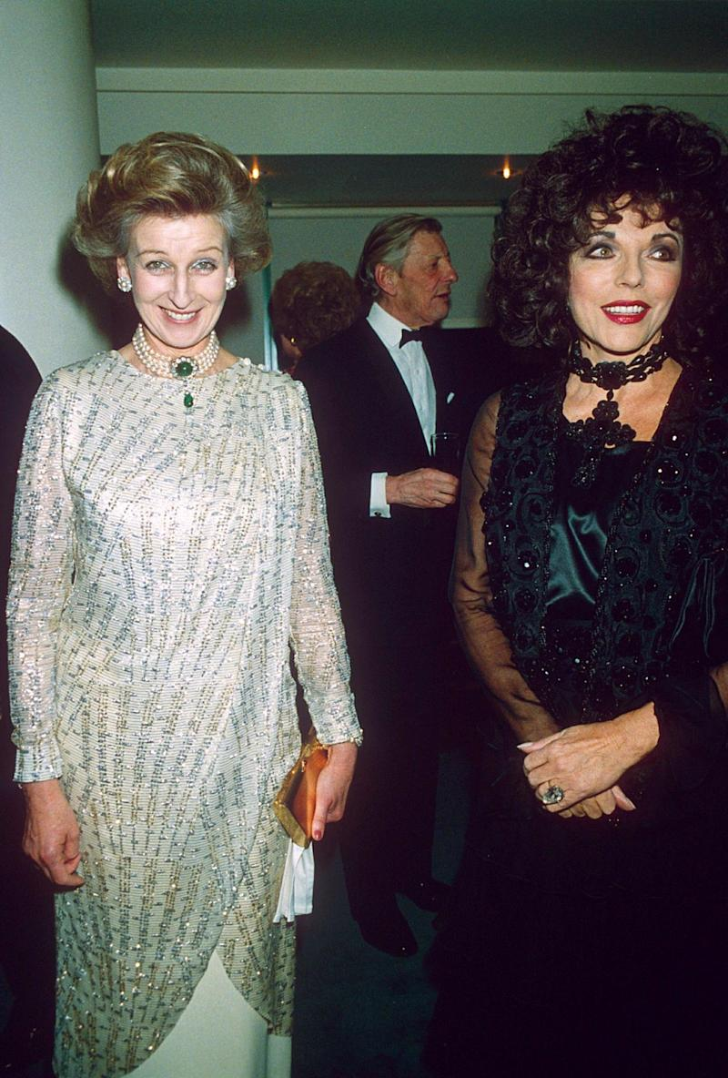 Princess Alexandra with Joan Collins at Quaglino's (Richard Young/Shutterstock)
