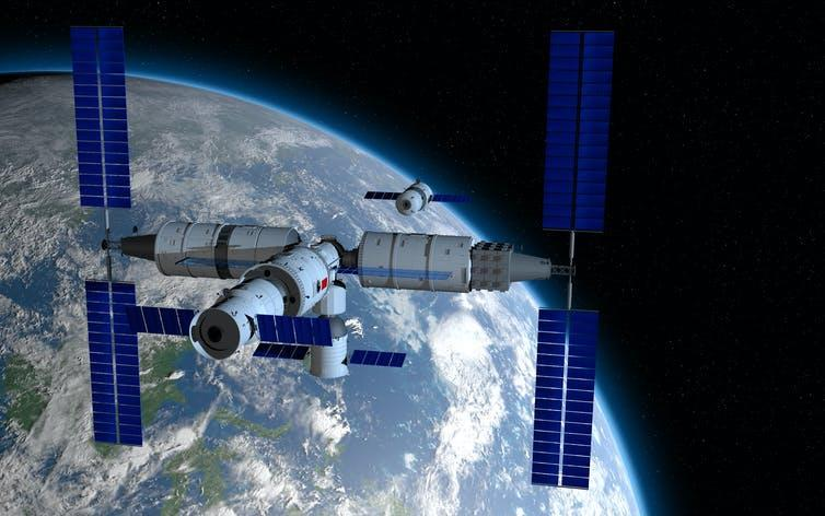 Artist impression of the core module of Tiangong.