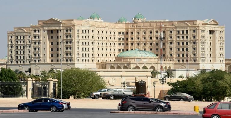 General view of the Ritz-Carlton hotel in the Saudi capital Riyadh that is reported to have been converted into a makeshift prison after an unprecedented crackdown on the kingdom's coddled elite