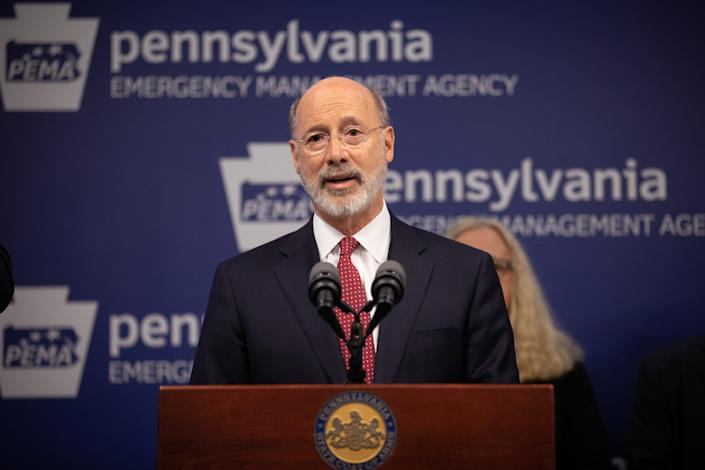 Governor Tom Wolf talks about Pennsylvania efforts to mitigate the effects of the new coronavirus.